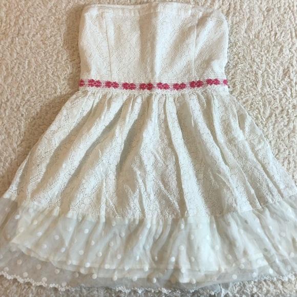 280dcf60444 Hollister dresses short and cute white tube top dress poshmark jpg 580x580 Hollister  cute tube top